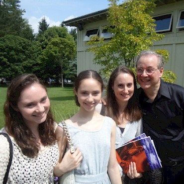 Karchin with his family, after conducting his Chamber Symphony at Tanglewood in 2011. 