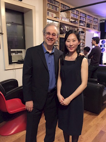 With pianist Se-Hee Jin, after performance of Three Epigrams at Spectrum, NYC