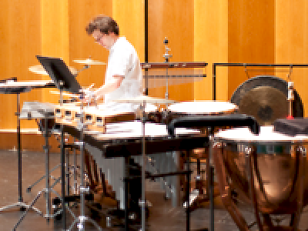 Matt Gold and the percussion set-up